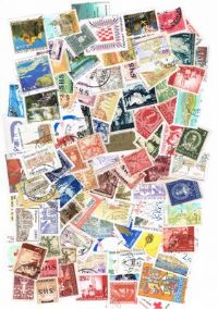 100 different Croatia (all periods) packet